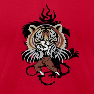 Red tiger_style T-Shirts - Men's T-Shirt by American Apparel