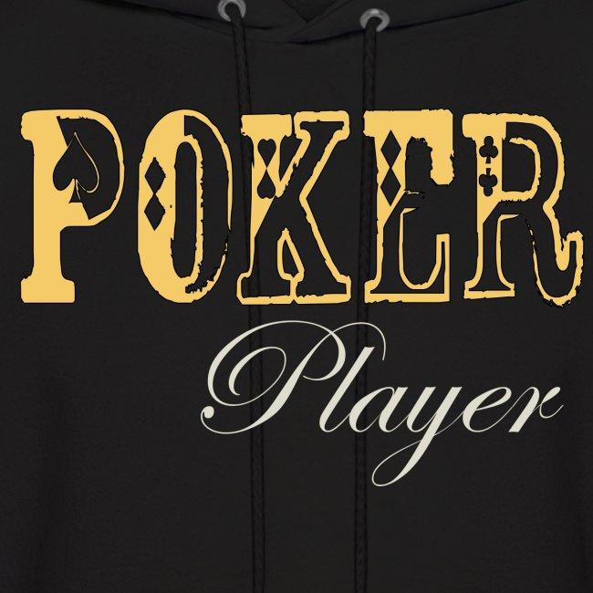 Poker Player  Mens Hoodie Black