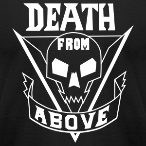 Black deathfromabove T-Shirts - Men's T-Shirt by American Apparel