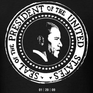 Obama Presidential Seal T-shirt by N. Hall - Men's T-Shirt