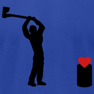 Royal blue Anti Valentine Heart - Love T-Shirts - Men's T-Shirt by American Apparel