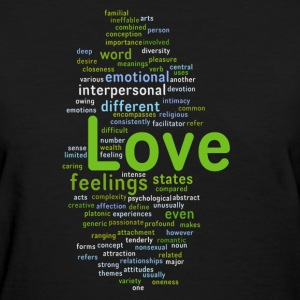 Love & romance word mix T - Women's T-Shirt