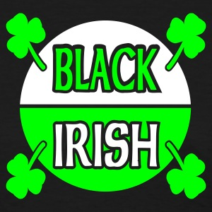 Black Black Irish With Circle And Shamrocks Women's T-shirts - Women's T-Shirt