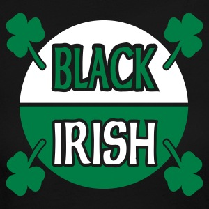 Black Black Irish With Circle And Shamrocks Long sleeve shirts - Women's Long Sleeve Jersey T-Shirt