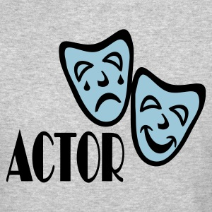 Heather grey Actor With Comedy Tragedy Masks Long sleeve shirts - Crewneck Sweatshirt
