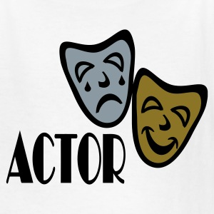 White Actor With Comedy Tragedy Masks Kids Shirts - Kids' T-Shirt