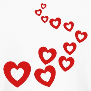 White Valentines Hearts Design Kids Shirts - Kids' Long Sleeve T-Shirt