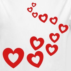 White Valentines Hearts Design Baby Body - Long Sleeve Baby Bodysuit