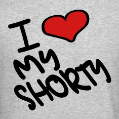 Heather grey I Heart My Shorty With Heart Long sleeve shirts