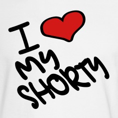 White I Heart My Shorty With Heart Long sleeve shirts