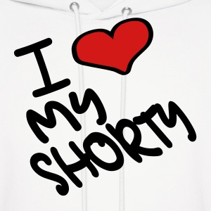 White I Heart My Shorty With Heart Hoodies - Men's Hoodie