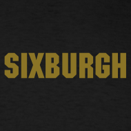 Design ~ SIXBURGH Black T-shirt with Gold Text