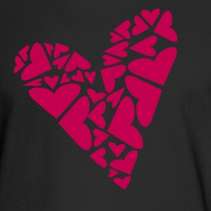 Black Hearts In Heart Formation, Asymmetrical Long sleeve shirts - Men's Long Sleeve T-Shirt