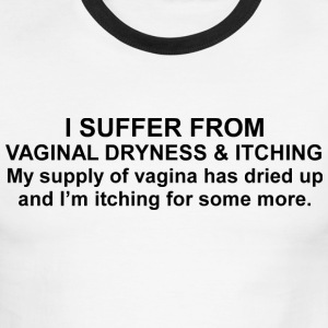 White/black Vaginal Dryness & Itching T-Shirts - Men's Ringer T-Shirt