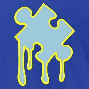 Royal blue puzzle_piece_melting2 T-Shirts - Men's T-Shirt by American Apparel