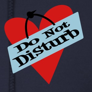 Ash  Heart Do Not Disturb Zippered Jackets - Men's Zip Hoodie