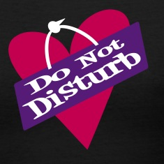 Black Heart Do Not Disturb Women's T-shirts