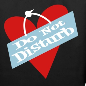 Black Heart Do Not Disturb Bags  - Eco-Friendly Cotton Tote