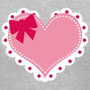 Lolita Heart V Neck - Women's V-Neck T-Shirt