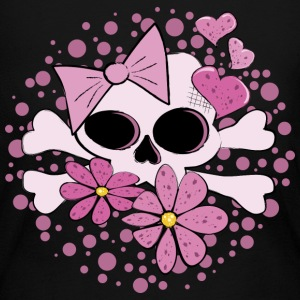 Girly Punk Skull - Women's Long Sleeve Jersey T-Shirt