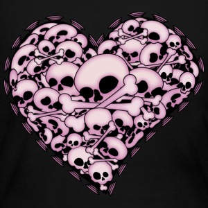 Pink Skull Heart - Women's Long Sleeve Jersey T-Shirt