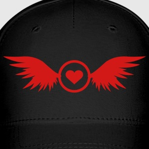 red heart with wings - Baseball Cap