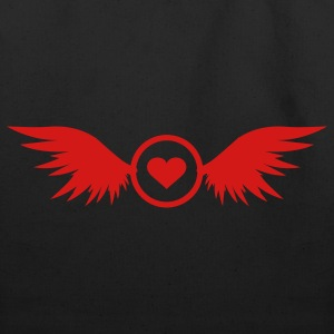 red heart with wings - Eco-Friendly Cotton Tote