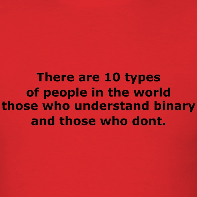 There are 10 types of people in the world..