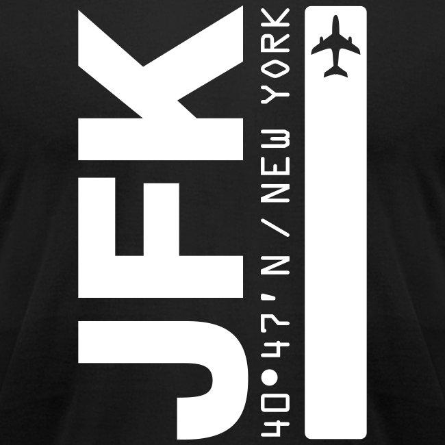 New York City Airport Code JFK Black Vertical Fitted T-shirt