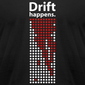 Black Drift Happens tee - Men's T-Shirt by American Apparel