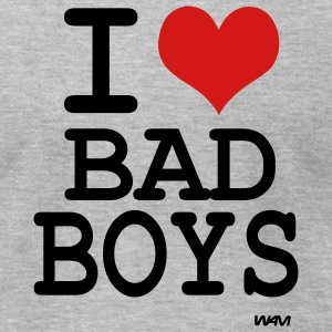 Heather grey i love bad boys by wam T-Shirts - Men's T-Shirt by American Apparel