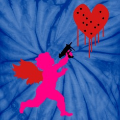 Spider baby blue Cupid Uzi T-Shirts
