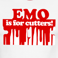 Design ~ Emo is for Cutters baseball t-shirt
