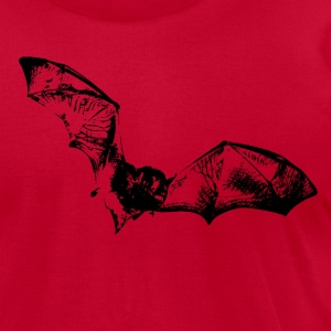 JETS Bat - Men's T-Shirt by American Apparel