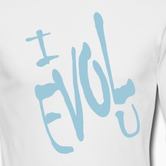 White I Evol U, Love Backward Long sleeve shirts