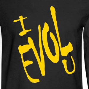 Black I Evol U, Love Backward Long sleeve shirts - Men's Long Sleeve T-Shirt
