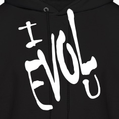 Black I Evol U, Love Backward Hoodies