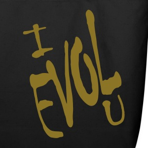 Black I Evol U, Love Backward Bags  - Eco-Friendly Cotton Tote