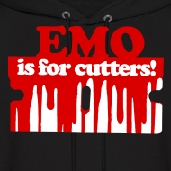 Design ~ Emo is for Cutters pullover hoodie