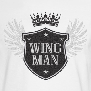 White funny wingman tee Long sleeve shirts - Men's Long Sleeve T-Shirt