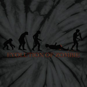 Evolution of Zombie - Unisex Tie Dye T-Shirt