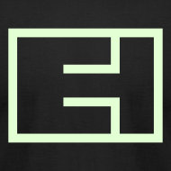 Design ~ Glow-in-the-Dark Block Logo on Black