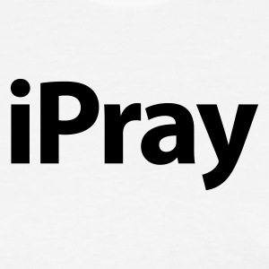 iPray White over Red - Women's T-Shirt