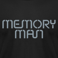 Design ~ Memory Man: Metallic Silver on Black