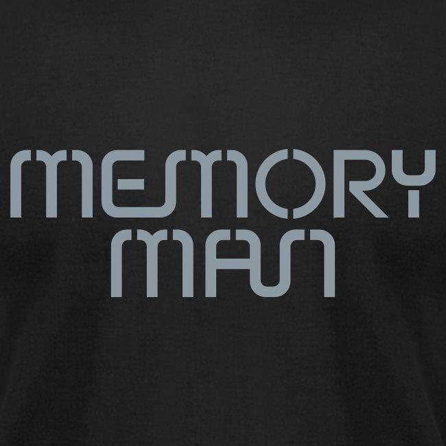 Memory Man: Metallic Silver on Black