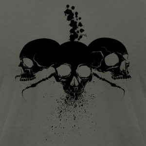 Spatter skulls black version - Men's T-Shirt by American Apparel