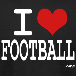 Black i love football by wam T-Shirts - Men's T-Shirt by American Apparel