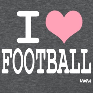 Deep heather i love football by wam Women's T-shirts - Women's T-Shirt