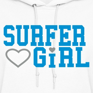 White surfergirl Hooded Sweatshirts - Women's Hoodie