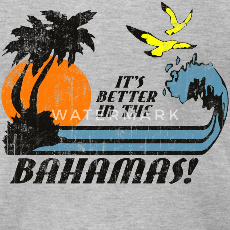 Heather grey Better In Bahamas T-Shirts - Men's T-Shirt by American Apparel